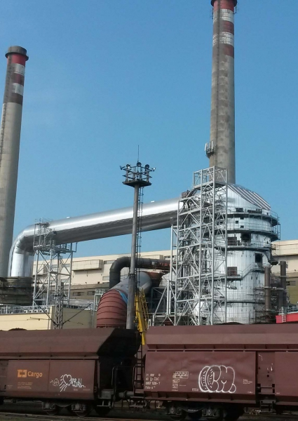 Retrofit existing desulphurisation in power plant Opatovice